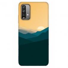 """Xiaomi Redmi 9T TPU dėklas unikaliu dizainu 1.0 mm """"u-case Airskin Mountains 2 design"""""""