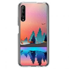 "Huawei P smart pro TPU dėklas unikaliu dizainu 1.0 mm ""u-case Airskin Nature 5 design"""