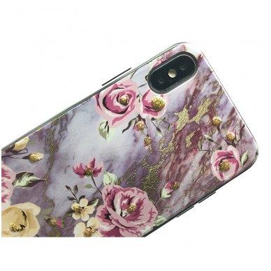 xiaomi mi a2 lite (redmi 6 pro) dėklas flowers silikonas violetinis 2