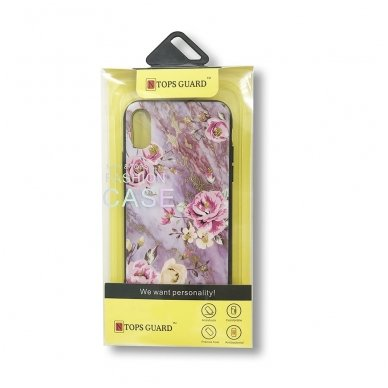 xiaomi mi a2 lite (redmi 6 pro) dėklas flowers silikonas violetinis 3